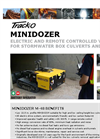 Track-O MINIDOZER M-48 Electric Mini Dozer for Box Culvert Cleaning - Technical Data Sheet
