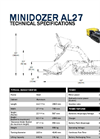 Track-O MINIDOZER AL-27 Electric and Remote Controlled Vehicle - Technical Data Sheet