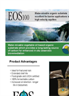 EOS - Model 100 - Water-Mixable Vegetable Oil Based Organic Substrate - Datasheet