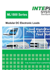 Intepro - Model ML 1800 Series - Modular Configured Electronic DC Load - Data Sheet