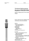 Oxymax - Model COS22D/COS22 - Digital Oxygen Sensor - Technical Datasheet