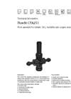 Flowfit - Model CYA251 - Universal Flow Assembly for Nitrate/SAC, Turbidity and Oxygen Sensors Technical Datasheet