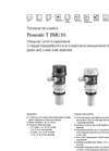 Prosonic - Model T FMU30 - Ultrasonic Level Measurement - Technical Datasheet