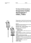 Thermophant - Model T TTR31, TTR35 - Temperature Switch - Technical Datasheet
