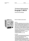 Ecograph - Model T RSG35 - Universal Graphic Data Manager - Technical Datasheet