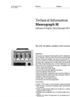 Memograph - Model M RSG40 - Advanced Graphic Data Manager - Technical Datasheet