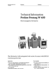 Promag - Model W 400 - Electromagnetic Flow Measuring System – Technical Datasheet