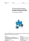 Promag - Model W 400 - Electromagnetic Flow Measuring System - Technical Datasheet