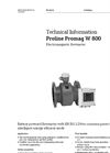 Proline Promag - Model W 800 - Electromagnetic Flowmeter - Technical Datasheet