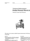 Proline Prosonic - Model B 200 - Ultrasonic Transit Time Flowmeter - Technical Datasheet