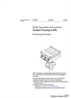 Proline Promag - Model D 400 - Electromagnetic Flowmeter - Brief Operating Instructions Manual