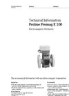 Proline Promag - Model E 100 - Electromagnetic Flowmeter - Technical Datasheet
