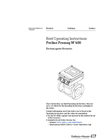 Proline Promag - Model W 400 - Electromagnetic Flowmeter  - Brief Operating Instructions Manual