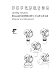 Prosonic - Model M FMU40, FMU41, FMU42, FMU43, FMU44 - Ultrasonic Level Measurement - Operating Instructions Manual