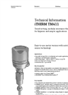 Endress+Hauser - Model iTHERM TM411 - Innovative Advanced, Modular RTD Thermometer - Technical Datasheet