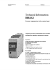 RMA42 Process Transmitter with Control Unit - Technical Information