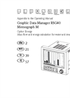 Memograph - Model M RSG40 - Advanced Graphic Data Manager - Operating Manual