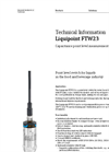 Liquipoint FTW23 Capacitance Point Level Measurement - Technical Information