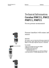 Cerabar PMC11, PMC21, PMP11, PMP21 Process Pressure Measurement - Technical Information