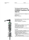 iTHERM TrustSens TM371, TM372 Compact Thermometer for Hygienic and Aseptic Applications HART®-Protocol - Technical Information