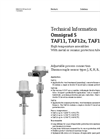 Omnigrad S TAF11, TAF12x, TAF16 High Temperature Assemblies - Technical Information