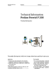 Proline Prowirl F 200 Vortex Flowmeter - Technical Information