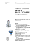 Cerabar M PMC51, PMP51, PMP55 Process Pressure Measurement - Technical Information