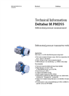 Deltabar PMD55 Differential Pressure Measurement - Technical Information