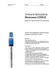 Memosens COS81D Hygienic, Optical Sensor for Measuring Oxygen - Technical Information