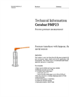 Cerabar PMP23 Process Pressure Measurement - Technical Information