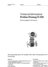 Proline Promag H 200 Electromagnetic Flowmeter - Technical Information