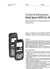 Field Xpert SFX350, SFX370 Industrial PDA for Commissioning, Monitoring and Maintenance - Technical Information