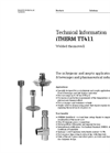 iTHERM TT411 Welded Thermowell - Technical Information