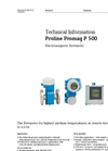 Proline Promag P 500 Electromagnetic Flowmeter - Technical Information