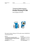 Proline Promag W 500 Electromagnetic Flowmeter - Technical Information