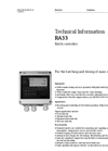 RA33 Batch Controller - Technical Information