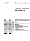 Barrier RB223 One or Two-Channel Barrier - Technical Information