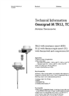 Omnigrad M TR12, TC12 Modular Thermometer - Technical Information