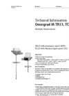 Omnigrad M TR13, TC13 Modular Thermometer - Technical Information