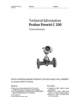 Proline Prowirl C 200 Vortex Flowmeter - Technical Information