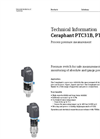 Ceraphant PTC31B, PTP31B Process Pressure Measurement - Technical Information
