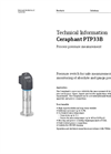 Ceraphant PTP33B Process Pressure Measurement - Technical Information