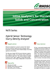 TSS and TDS - Model 9670 - Hybrid Ultrasonic Slurry Sensor- Brochure