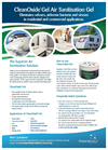CleanOxide Gel Air Sanitisation Gel - Brochure