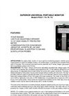 Model PUG-7 /7A /7E /7U - Superior Universal Portable Monitor Datasheet
