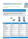GKL - Model KTL - Laboratory Sieve Shakers - Datasheet