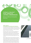 TETRA LP Block - Dual Parallel Lateral Underdrain - Brochure