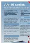 Model AA-10 Series - Automatic Polarimeters Brochure