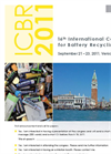 16th International Congress for Battery Recycling ICBR 2011 - Call For Papers