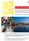 ICBR 2014 - Call for Papers - Brochure